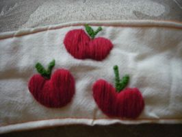 Apple Jack Embroidered Coffee Cozy by Kemari-Chan