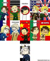 Hetalia Meme Faces - Set #1 by TheonenamedA
