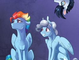 Family portrait: Rainbow Dash by Vindhov