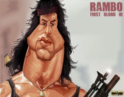 Sylvester Stallone as Rambo by diplines