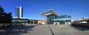 Aupark Square Panorama , Kosice , Slovakia by sparcosk