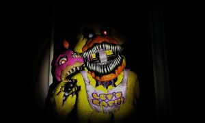 Nightmare Chica And Cupcake by TailsFan789