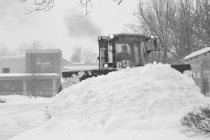 2015 February Snow Storm, BullDozing the Snow 4 by Miss-Tbones