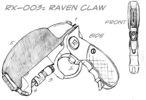 Weaponology:RX-003 Raven Claw by OceanSama