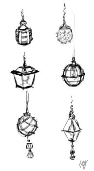 Lantern designs by Magali-Mebsout