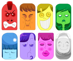 7+1 Faces by Chocoreaper
