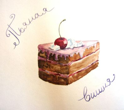 Cherry cake by OlwenArt