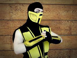 Mortal Kombat cosplay _Scorpion_ by grimmiko88