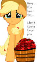 Applejack... I don't wanna forget you... by Elliums