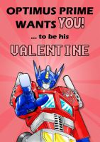 Transformers Valentines Card 2011 by deadcal