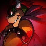 Bowser on livestream by SuperCaterina