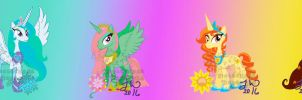 MLP:FIM Charas: Princesses of Season and Stars by VioletRoseDragon14