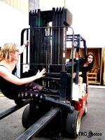 Babes on Forklift 2 by angelsfalldown1