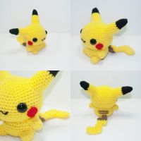 Pikachu by Heartstringcrochet