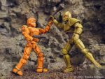 Robots vs. Androids 3D printed figures A by hauke3000