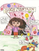 Dora Goes To Candy Mountain by swimfreak82390