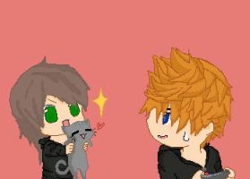 Roxas, Az and Xander by h0053348Love