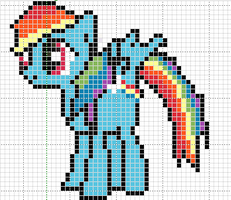 rainbow dash pattern by Sailor-Phantom
