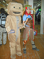 PASBR cosplayers: Sackboy and Jak by Lynus-the-Porcupine