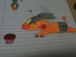Tepig loves muffins by WhiteOrchid14