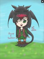 Hiccup and Toothless chibi by Animefangirl68