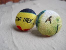 Star Trek Star Fleet Command Insignia Earrings by QuixoticExoticism