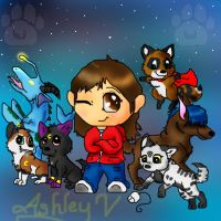 Chibi me with my characters by SasoriDanna94