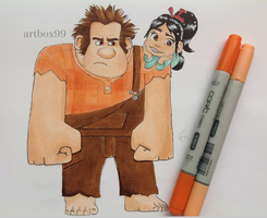 Vanellope and Ralph by artbox99
