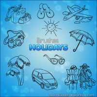 Pack de brushes Holidays by LauraClover