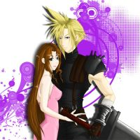 Cloud and Aerith II by usankusai