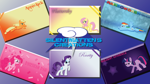 Mane Six Wallpaper Pack (Set 1) by Silentmatten