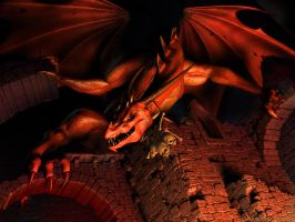 3D Dragon by Pie-was-here