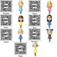 3DS Miis + QR Codes by EbonNekoXIII