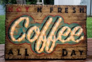 Coffee Marquee Light Sign by SpotSlim