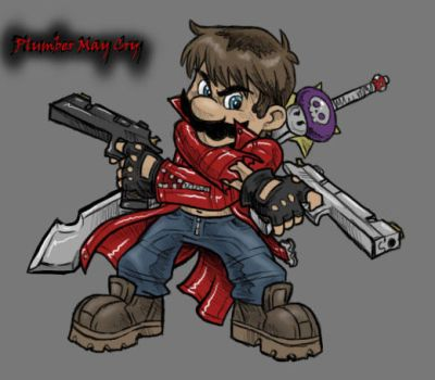 Plumber May Cry by AIBryce