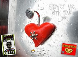 Shower me with your love heart pendant by Dinuguan