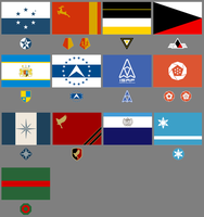Strangereal country's flags and roundels. by LooneyAces