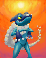 Frogadier by AlphaXXI