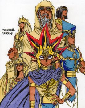 Atem y sus guardianes by Uzu-sama