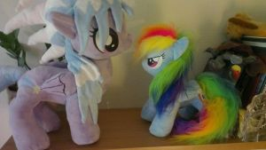 Rainbow dash and cloudchaser by Epicrainbowcrafts