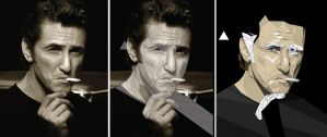 Face Vector of Sean Penn Wip by ImpersonatingPanda