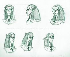 Ayesha: Face Turnaround and Expression Sheet by Little-Katydid