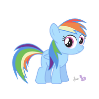 Li'l Rainbow Dash by dm29