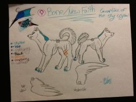 Bone/New Faith Reference Sheet by silver-moonwolf