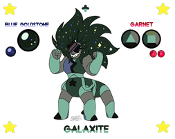 - FanFusion_Blue GoldStone + Garnet_GALAXITE - by PencilTree