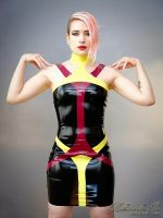 Mademoiselle Ilo - Sapphire latex dress - Model No by Mademoiselle-Ilo