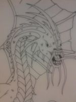 Jabberwocky (close up in pen) by Momtat31