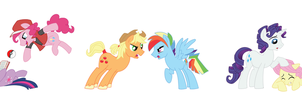 Genderbent Mane 6 Commission done by CSImadmax by AK47Smith