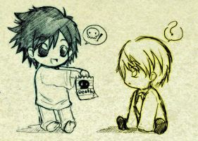 Death note first chibi by debby3444