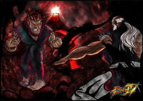 Akuma Vs Gouken by PaulVincent